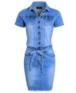 Womens Denim Pencil Dress, UK sizes 8 to 16