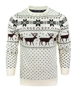 Boys Christmas Jumper Knitted Reindeer, Children Ages 7 to 14 Years