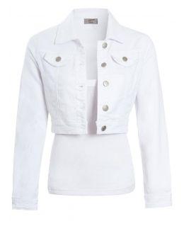 Womens Cropped Length Denim Jacket, UK sizes 4 to 12