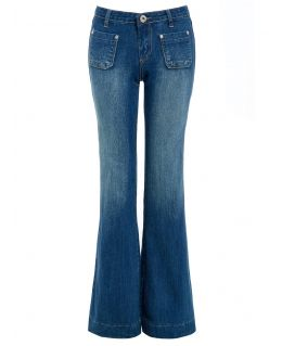Womens Flared Denim Bootcut Jeans, UK Sizes 6 to 14