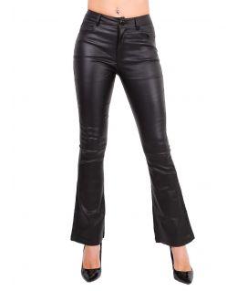 Womens Black High Waist Wet look Bootcut Jeans, UK Sizes 6 - 14