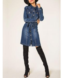 Womens Premium Denim Shirt Dress, UK Sizes 6 to 14