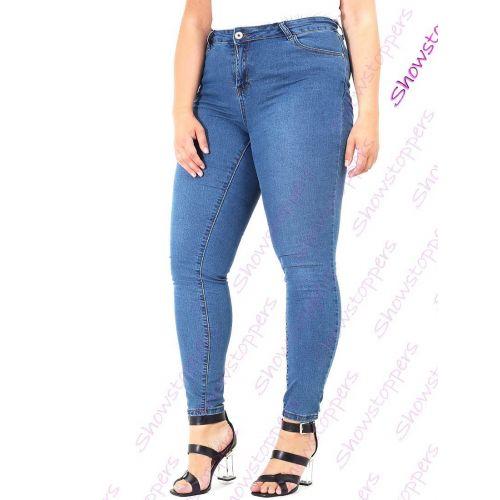 Womens Stretch Denim Jeans Curve Slim Pocket Plus Size 16 18 20 22
