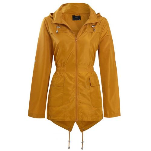 Womens Rain Mac Showerproof Raincoat Jacket Sizes 8 10 12 14 16 Hooded Coat