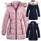 Girls Fleece Lined Padded Parka Coat with Faux Fur,  Ages 4 to 14 Years