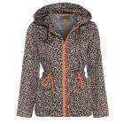 Womens Rain Mac Showerproof Raincoat Leopard Jacket Plus Sizes 18 to 24 Hooded Coat