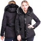 Womens Size 16 8 10 12 14 6 Premium Faux Fur Padded Parka Coat PU Trim