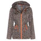 Womens Rain Mac Showerproof Raincoat Leopard Jacket Sizes 8 to 16