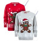 Boys Gingerbread Knitted Christmas Jumper