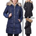 Womens Premium Faux Fur Padded Coat Hooded Parka Size 8 10 12 14