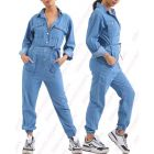 Womens Jumpsuit Denim Boiler Suit Blue Size 10 12 14 8 All in One