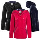 Womens Waterproof Windproof Raincoat Hooded Jacket Pink Navy Blue Black Size 8 to 16