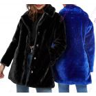 Womens Faux Fur Coat Plush Longline
