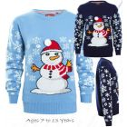 Boys Blue Snowman Christmas Jumper