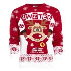 Boys Red United Knitted Christmas Jumper