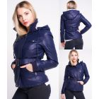 Womens Faux Leather Biker Coat Borg Lined Jacket PU Size 8 10 12 14