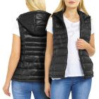 Womens Padded Gilet Wet look Shiny Bodywarmer