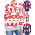 Womens Christmas Jumper Knitted Snowman Xmas Size 10 to 14