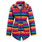 Girls Stripe Showerproof Rain Mac, Ages 7 to 13 Years