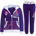 Girls Tracksuit Jersey 2 Piece Loungewear Age 7 8 10 12 13 Years Purple Hoody Pants