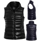 Womens Padded Gilet Bodywarmer Jacket, Black, Navy, Plus Sizes 18 to 24
